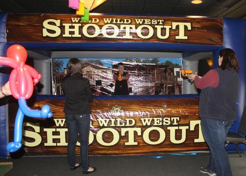 A Western Inflatable Games and Brings the Wild West and Today together for great entertainement piece