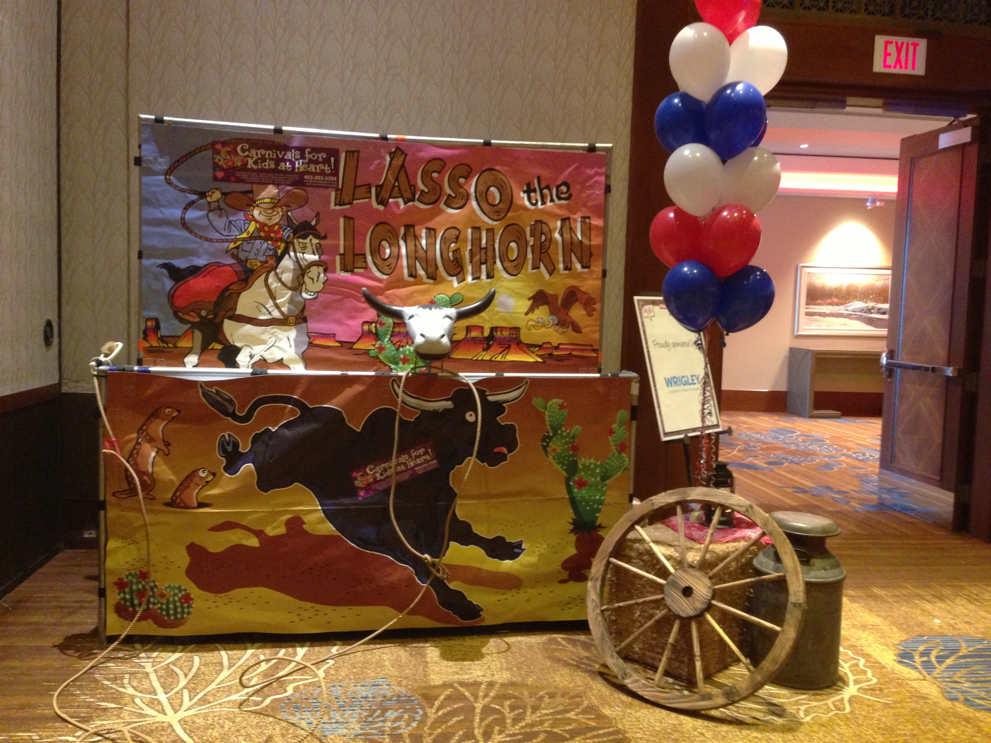Long Horn Lasso Carnival game