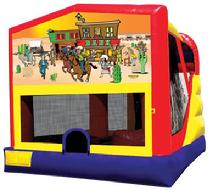 Western Cowboy Bounce House