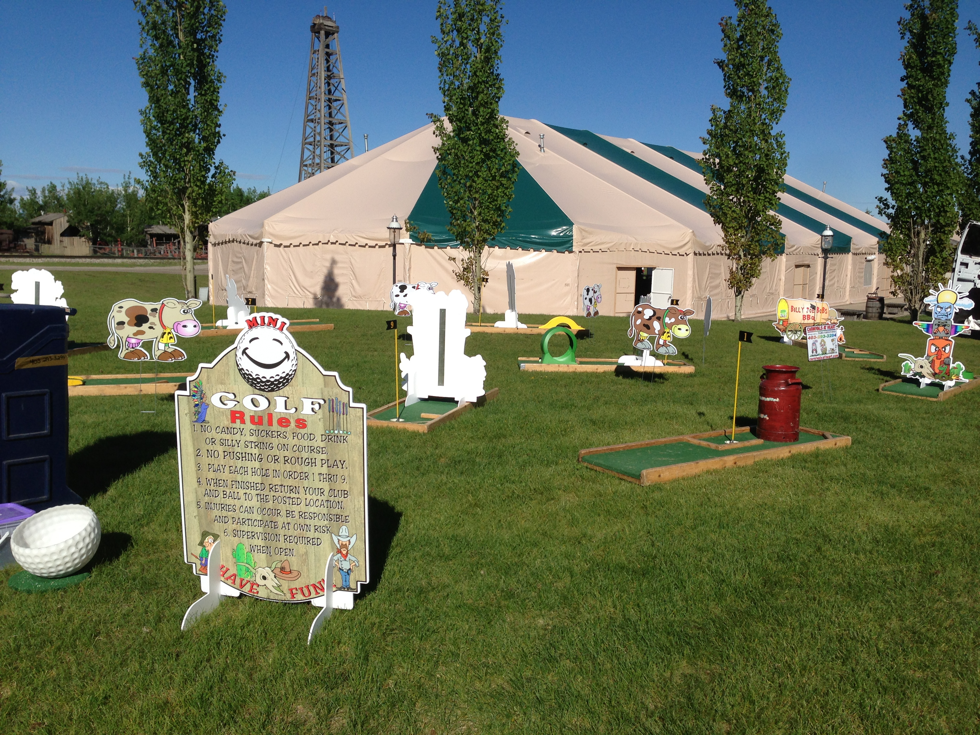 Mini Golf Western Style Calgary Stampede Events