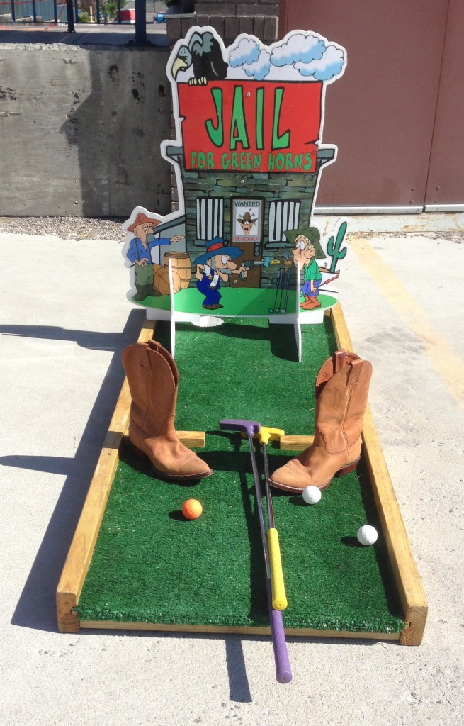 Western themed golf. One of or 18